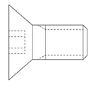 "Picture of #8-32 x 1/4"" F.H.C.S. (Stapler)"