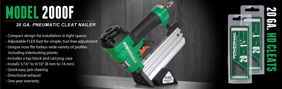 Model 2000F Flooring Nailer