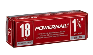 """Picture of SINGLE-Red Box 1-1/4"""" 18 Ga POWERCLEATS (1 X 1M)"""