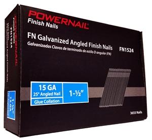 "Picture of 15 Ga. Finish Nail Type FN 25 DEG 1-1/2"" leg - EACH"