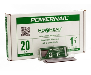 """Picture of Green Pkg 1-1/4"""" 20 Ga L-POWERCLEATS (5X1M)"""