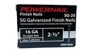 "Picture of 2-1/2"" STR FINISH NAIL SG25, 16 GA"