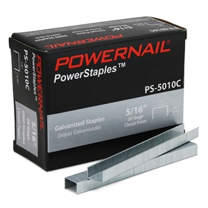 """Picture of 20 Ga. Staples, 1/2"""" Crown, 5/16""""leg EACH (5,000 ct)"""